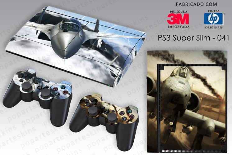 PS3 SUPER SLIM SKIN - PS3 SUPER SLIM SKIN - Tom Clancys Hawx 2 - Pop Arte Skins Adesivos
