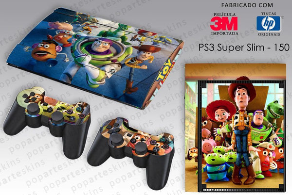 PS3 SUPER SLIM SKIN - PS3 SUPER SLIM SKIN - Toy Story - Pop Arte Skins Adesivos
