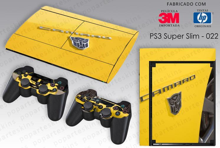 PS3 SUPER SLIM SKIN - PS3 SUPER SLIM SKIN - Transformers Camaro - Pop Arte Skins Adesivos