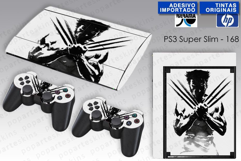 PS3 SUPER SLIM SKIN - PS3 SUPER SLIM SKIN - Wolverine X-men - Pop Arte Skins Adesivos