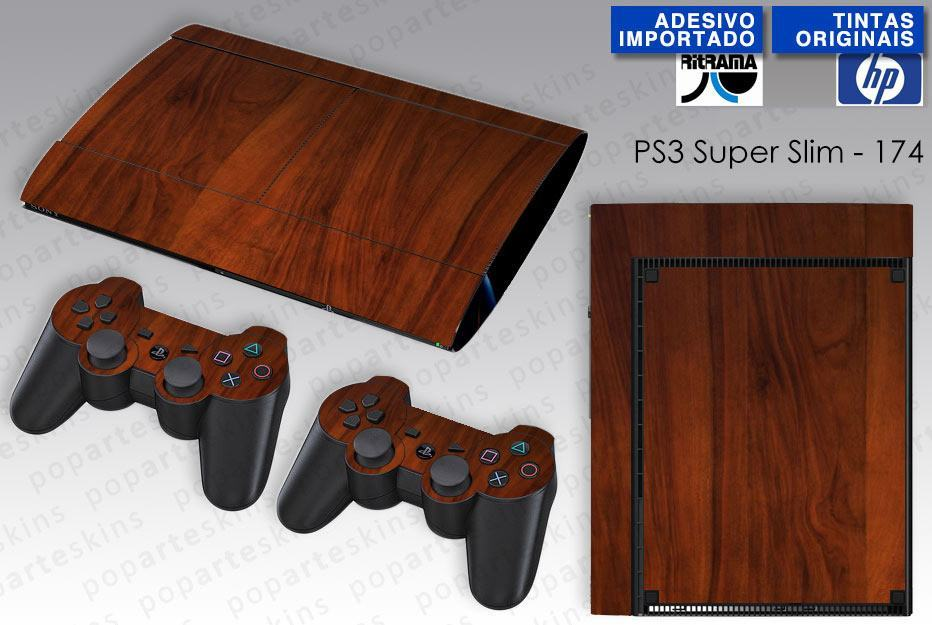 PS3 SUPER SLIM SKIN - PS3 SUPER SLIM SKIN - Wood Texture #1 - Pop Arte Skins Adesivos