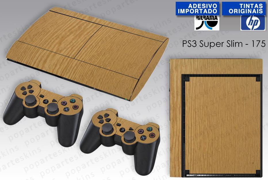PS3 SUPER SLIM SKIN - PS3 SUPER SLIM SKIN - Wood Texture #2 - Pop Arte Skins Adesivos