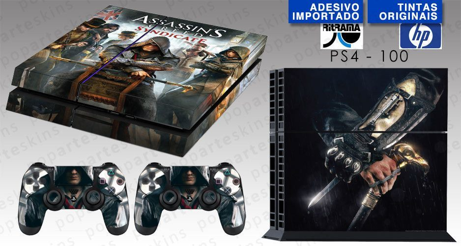 PS4 SKIN - PS4 SKIN - Assassins Creed Syndicate - Pop Arte Skins Adesivos