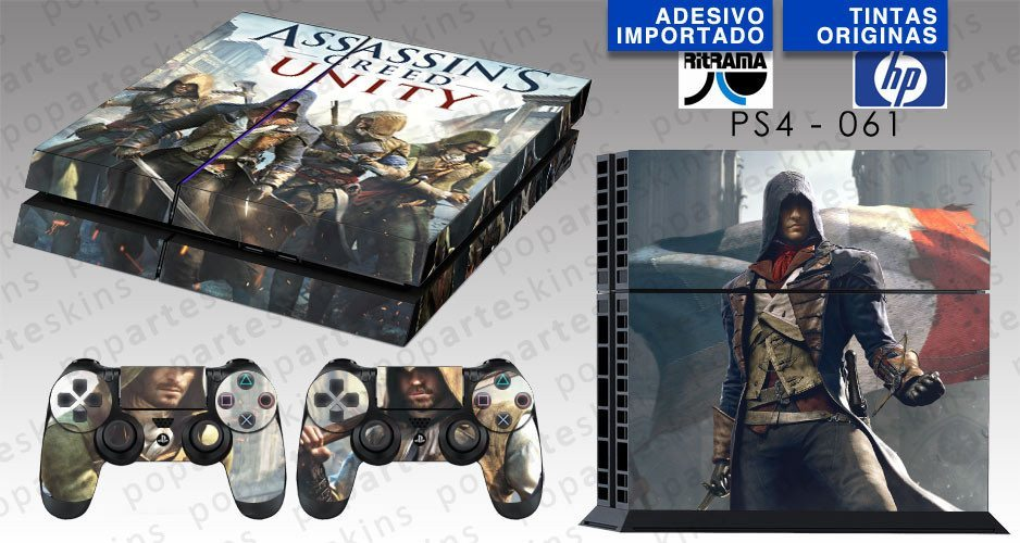 PS4 SKIN - PS4 SKIN - Assassins Creed Unity - Pop Arte Skins Adesivos