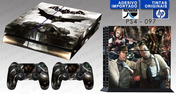 PS4 SKIN - PS4 SKIN - Batman Arkham Knight - Pop Arte Skins Adesivos