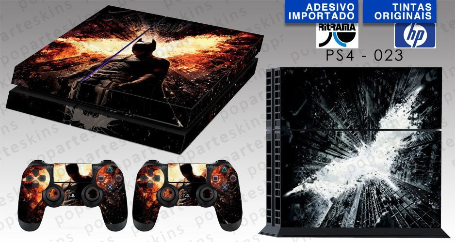 PS4 SKIN - PS4 SKIN - Batman - The Dark Knight - Pop Arte Skins Adesivos