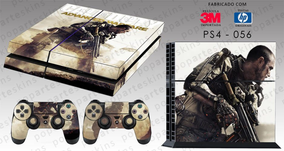 PS4 SKIN - PS4 SKIN - Call of Duty Advanced Warfare - Pop Arte Skins Adesivos