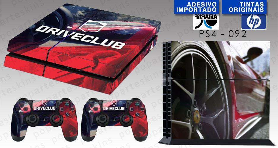 PS4 SKIN - PS4 SKIN - DriveClub - Pop Arte Skins Adesivos