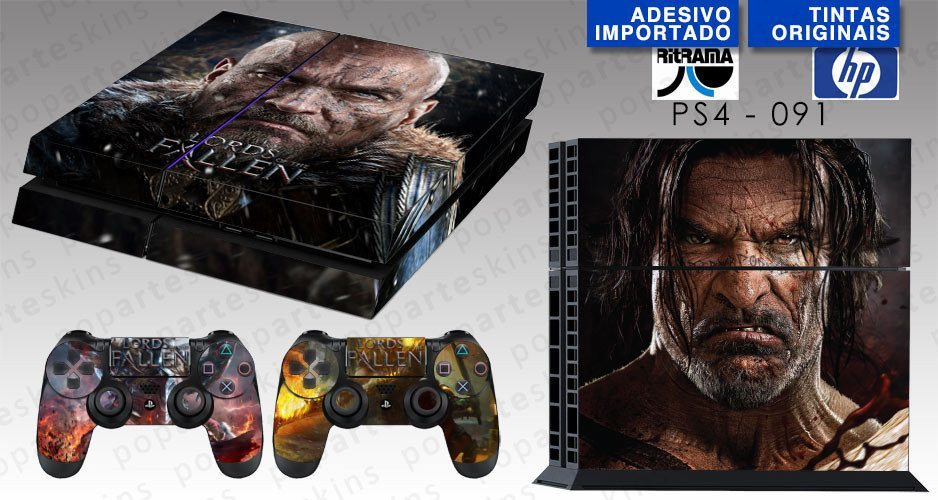 PS4 SKIN - PS4 SKIN - Lords of the Fallen - Pop Arte Skins Adesivos