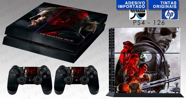 PS4 SKIN - PS4 SKIN - Metal Gear Solid 5: The Phantom Pain - Pop Arte Skins Adesivos