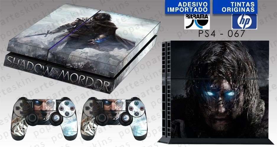 PS4 SKIN - PS4 SKIN - Middle Earth: Shadow of Murdor - Pop Arte Skins Adesivos
