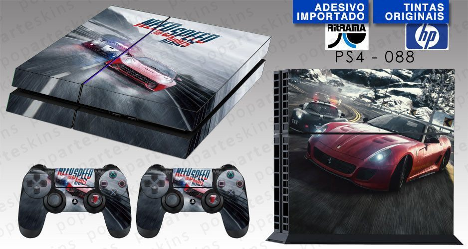 PS4 SKIN - PS4 SKIN - Need for Speed Rivals - Pop Arte Skins Adesivos