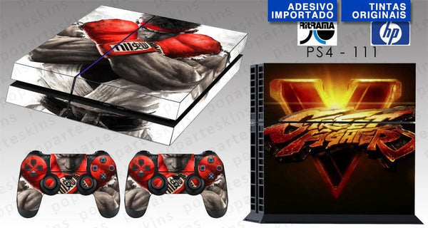 PS4 SKIN - PS4 SKIN - Street Fighter V - Pop Arte Skins Adesivos