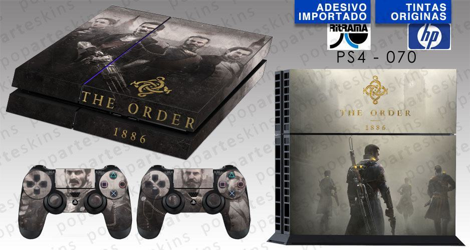 PS4 SKIN - PS4 SKIN - The Order - Pop Arte Skins Adesivos
