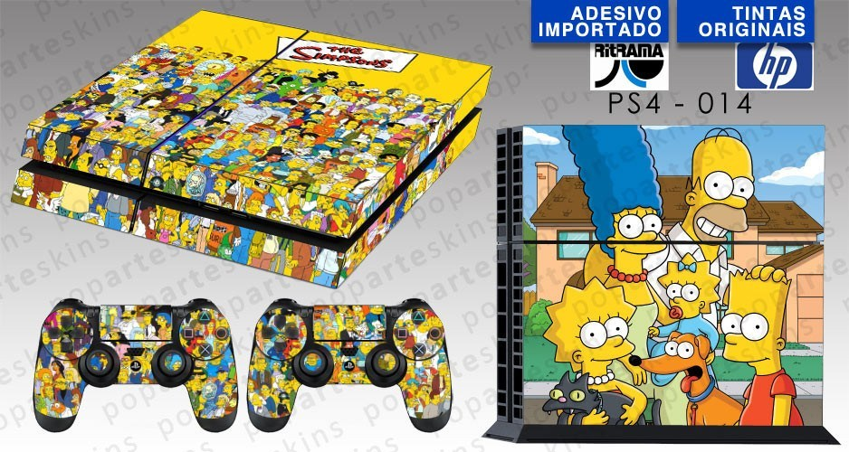 PS4 SKIN - PS4 SKIN - The Simpsons - Pop Arte Skins Adesivos