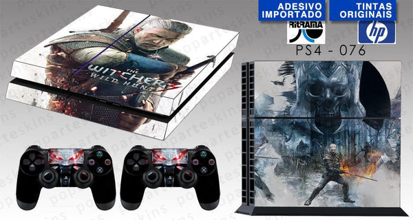 PS4 SKIN - PS4 SKIN - The Witcher - Pop Arte Skins Adesivos