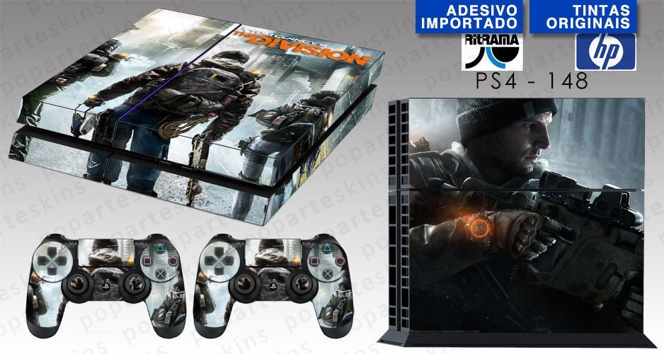 PS4 SKIN - PS4 SKIN - Tom Clancy's The Division - Pop Arte Skins Adesivos