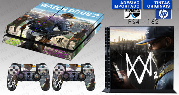 PS4 SKIN - PS4 SKIN - Watch Dogs 2 - Pop Arte Skins Adesivos