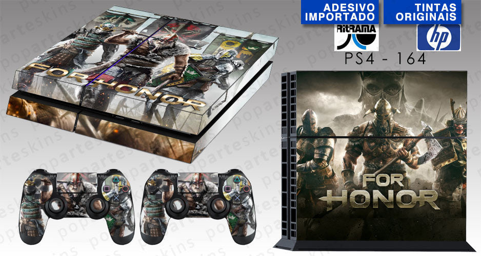 PS4 SKIN - PS4 SKIN - FOR HONOR - Pop Arte Skins Adesivos