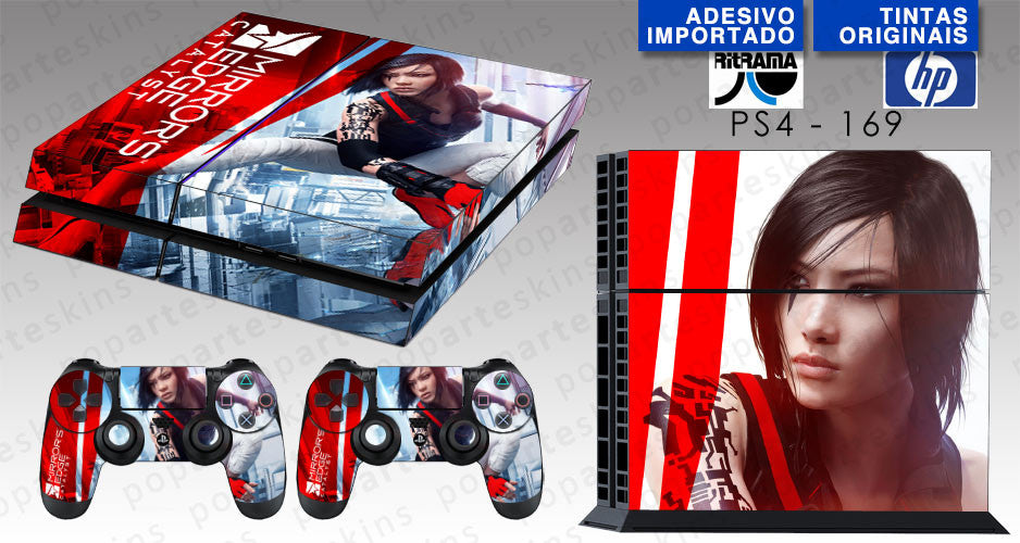 PS4 SKIN - PS4 SKIN -  Mirror's Edge Catalyst - Pop Arte Skins Adesivos