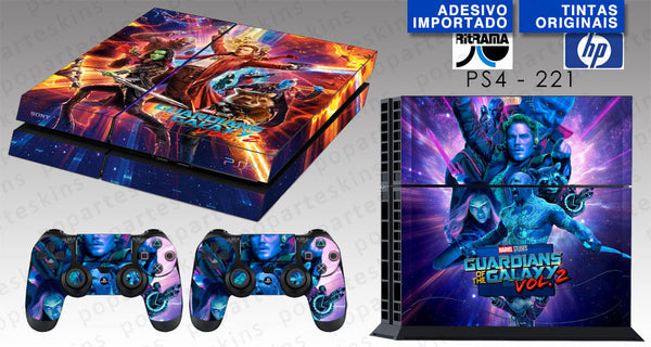 PS4 SKIN - Guardiões da Galáxia Vol. 2