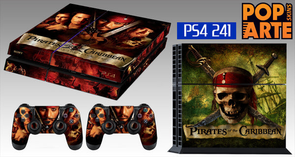 PS4 SKIN - Piratas do Caribe