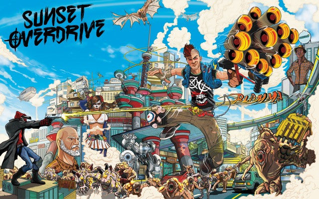 POSTER - Poster Sunset Overdrive #A - Pop Arte Skins Adesivos