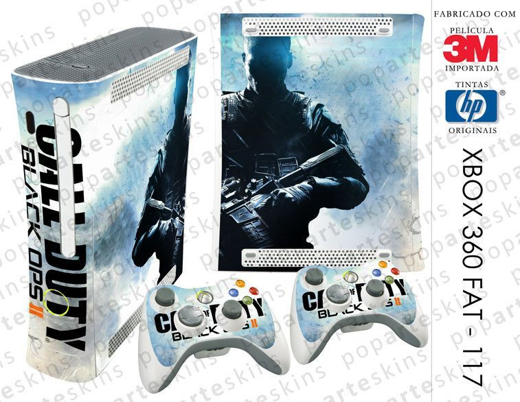 XBOX 360 FAT SKIN - XBOX 360 FAT SKIN - Call of Duty Black Ops 2 - Pop Arte Skins Adesivos