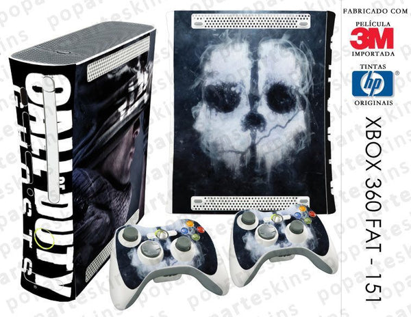 XBOX 360 FAT SKIN - XBOX 360 FAT SKIN - Call of Duty Ghosts - Pop Arte Skins Adesivos