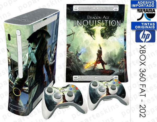 XBOX 360 FAT SKIN - XBOX 360 FAT SKIN - Dragon Age: Inquisition - Pop Arte Skins Adesivos