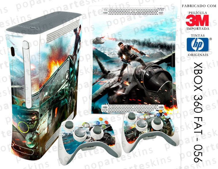 XBOX 360 FAT SKIN - XBOX 360 FAT SKIN - Just Cause 2 - Pop Arte Skins Adesivos