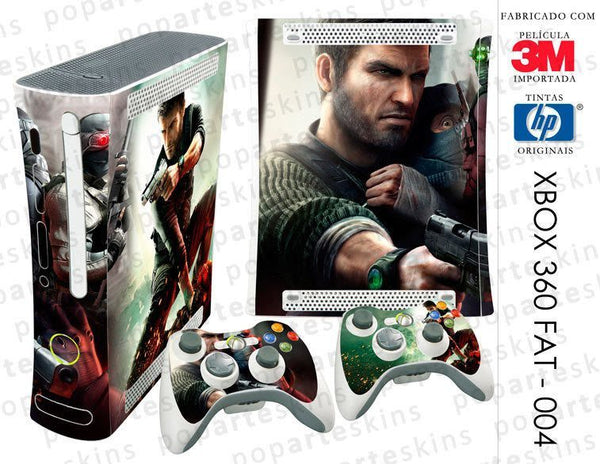 XBOX 360 FAT SKIN - XBOX 360 FAT SKIN - Splinter Cell Conviction - Pop Arte Skins Adesivos