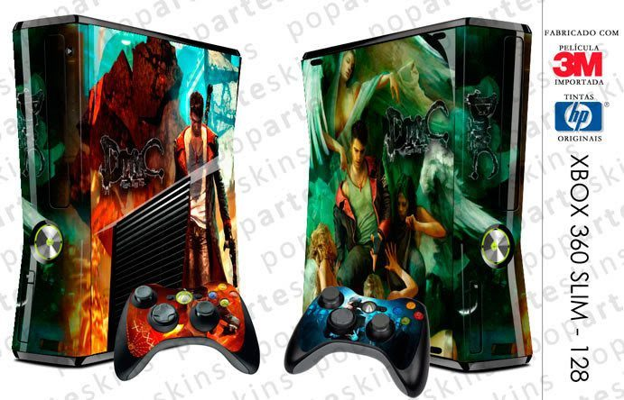 XBOX 360 SLIM SKIN - XBOX 360 SLIM SKIN - Devil May Cry 5 - Pop Arte Skins Adesivos
