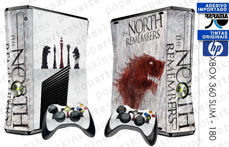 XBOX 360 SLIM SKIN - XBOX 360 SLIM SKIN - Game of Thrones - Pop Arte Skins Adesivos