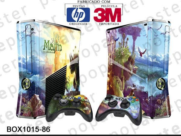 XBOX 360 SLIM SKIN - XBOX 360 SLIM SKIN - Majin and the Forsaken Kingdom - Pop Arte Skins Adesivos