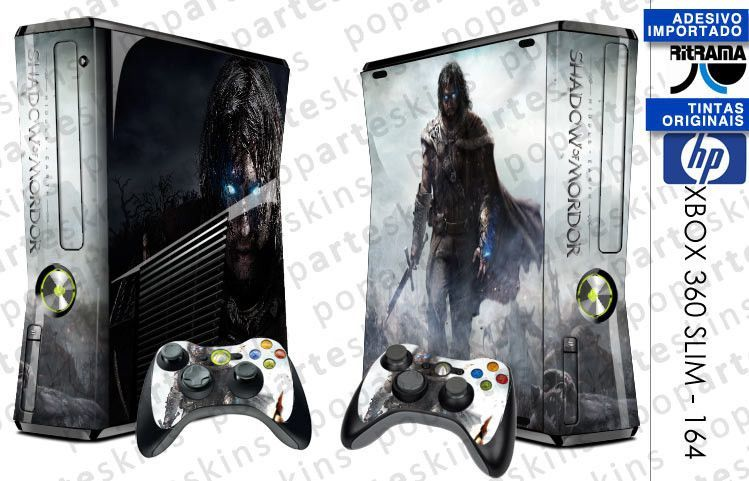 XBOX 360 SLIM SKIN - XBOX 360 SLIM SKIN - Middle Earth: Shadow of Mordor - Pop Arte Skins Adesivos