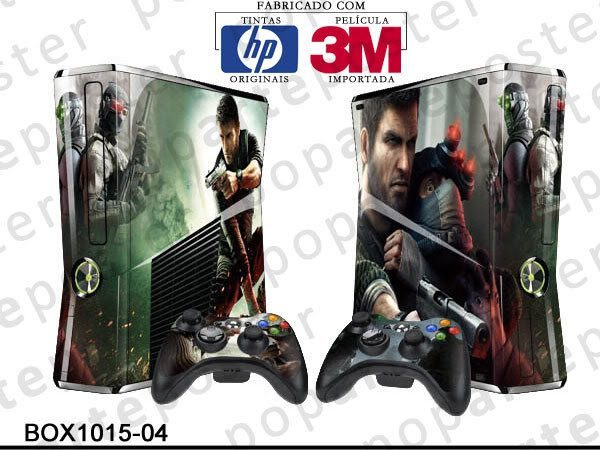 XBOX 360 SLIM SKIN - XBOX 360 SLIM SKIN - Splinter Cell Conviction - Pop Arte Skins Adesivos