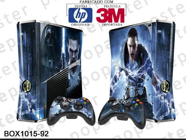 XBOX 360 SLIM SKIN - XBOX 360 SLIM SKIN - Star Wars The Force Unleashed 2 - Pop Arte Skins Adesivos
