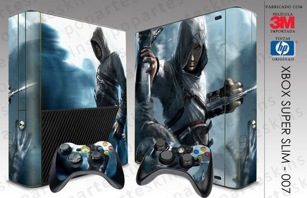 XBOX 360 SUPER SLIM SKIN - XBOX 360 SUPER SLIM SKIN - Assassins Creed - Pop Arte Skins Adesivos