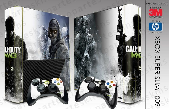 XBOX 360 SUPER SLIM SKIN - XBOX 360 SUPER SLIM SKIN - Call of Duty Modern Warfare 3 - Pop Arte Skins Adesivos