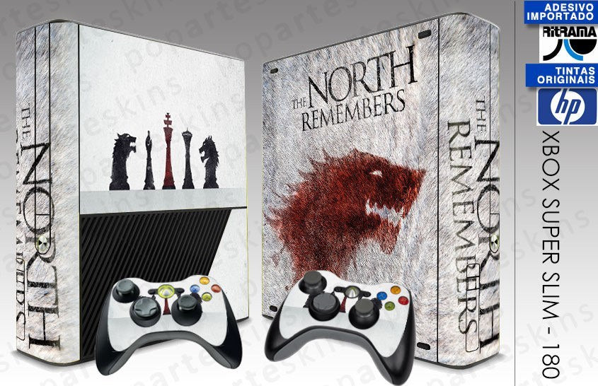 XBOX 360 SUPER SLIM SKIN - XBOX 360 SUPER SLIM SKIN - Game of Thrones - Pop Arte Skins Adesivos