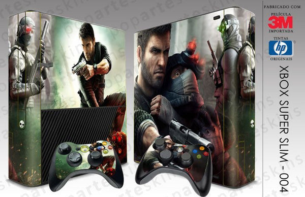 XBOX 360 SUPER SLIM SKIN - XBOX 360 SUPER SLIM SKIN - Splinter Cell Conviction - Pop Arte Skins Adesivos