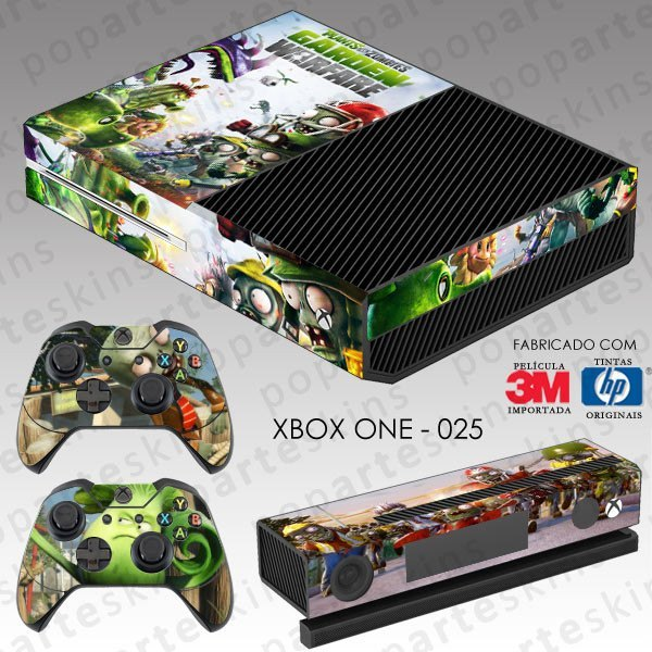 XBOX ONE SKIN - XBOX ONE SKIN - Plants Vs Zombies Garden Warfare - Pop Arte Skins Adesivos