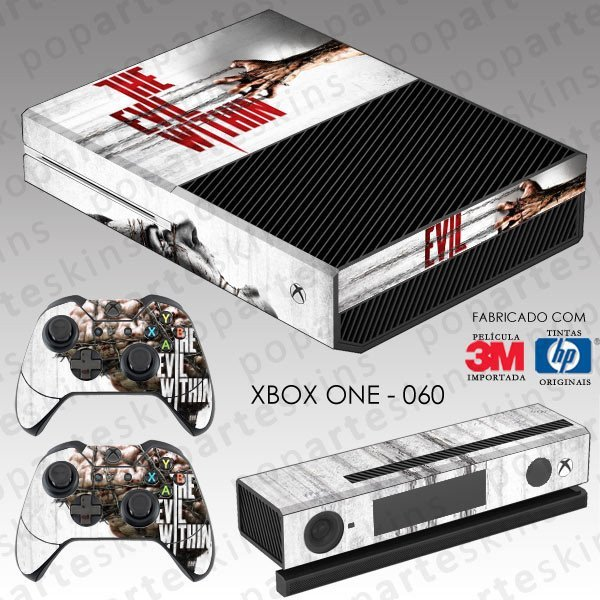 XBOX ONE SKIN - XBOX ONE SKIN - The Evil Within - Pop Arte Skins Adesivos