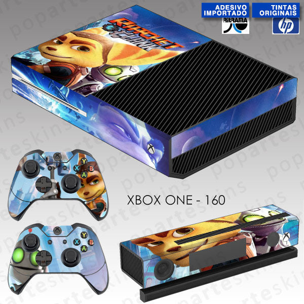 XBOX ONE SKIN - XBOX ONE SKIN - Ratchet and Clank - Pop Arte Skins Adesivos