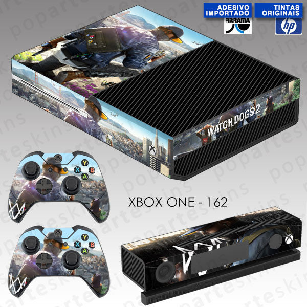 XBOX ONE SKIN - XBOX ONE SKIN - Watch Dogs 2 - Pop Arte Skins Adesivos