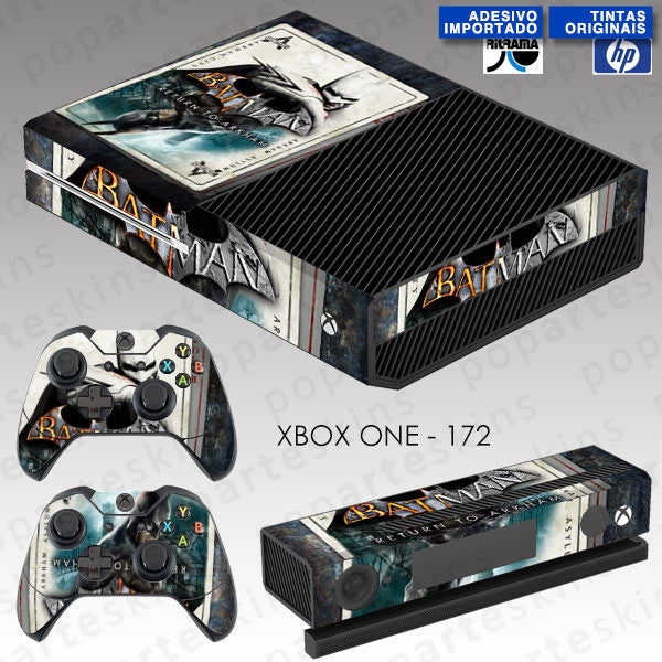 XBOX ONE SKIN - XBOX ONE SKIN - Batman Return to Arkham - Pop Arte Skins Adesivos