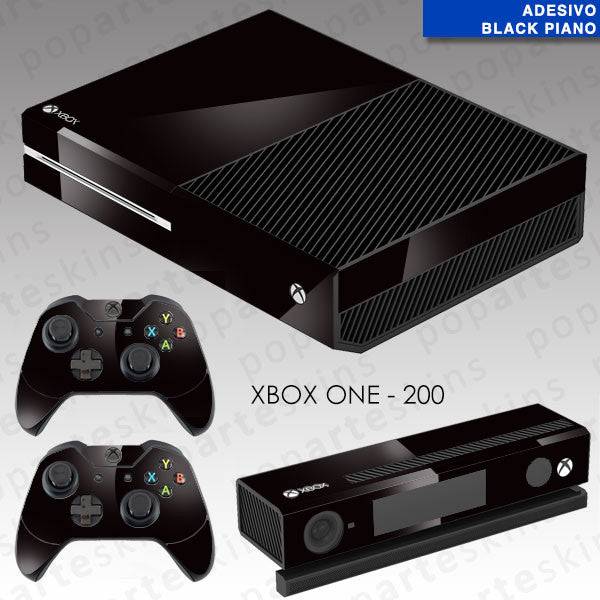 XBOX ONE SKIN - Preto Sólido Black Piano