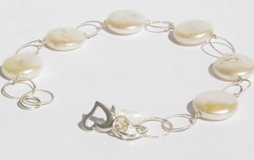 Coin Pearl Circle Bracelet