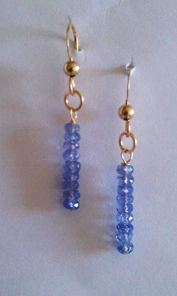 Tanzanite Stick Earrings